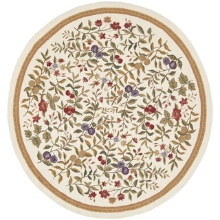 Safavieh Hand-Hooked Country Garden Ivory Wool Rug (8' Round)