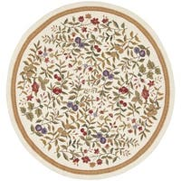 Safavieh Hand-Hooked Country Garden Ivory Wool Rug - 8' x 8' Round