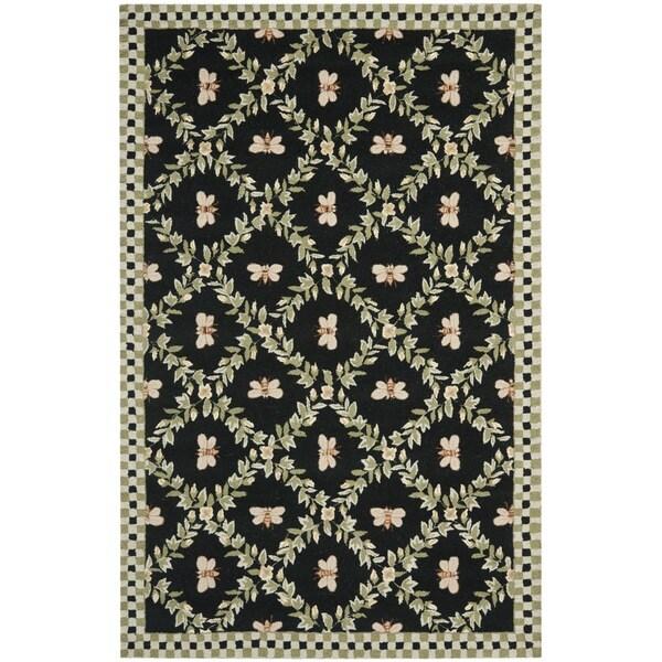 Safavieh Hand-hooked Bumblebee Black Wool Rug