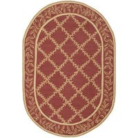 Safavieh Hand-hooked Trellis Rust/ Beige Wool Rug - 7'6 x 9'6