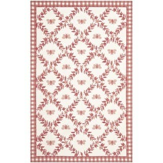 Safavieh Hand-hooked Bumblebee Ivory/ Rose Wool Rug|https://ak1.ostkcdn.com/images/products/7543092/P14977544.jpg?impolicy=medium