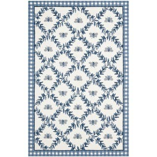 Safavieh Hand-hooked Bumblebee Ivory/ Blue Wool Rug|https://ak1.ostkcdn.com/images/products/7543093/P14977545.jpg?impolicy=medium
