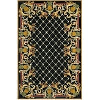 Safavieh Hand-hooked Chelsea Pineapples Black/ Multi Wool Rug