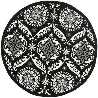 Safavieh Hand-hooked Chelsea Heritage Black Wool Rug (4' Round)