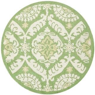 Safavieh Hand-hooked Chelsea Heritage Green Wool Rug (3' Round)
