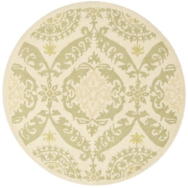 Safavieh Hand-hooked Chelsea Heritage Beige Wool Rug (3' Round)
