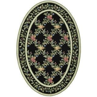 Safavieh Hand Hooked Garden Trellis Black Wool Rug 4 6 X