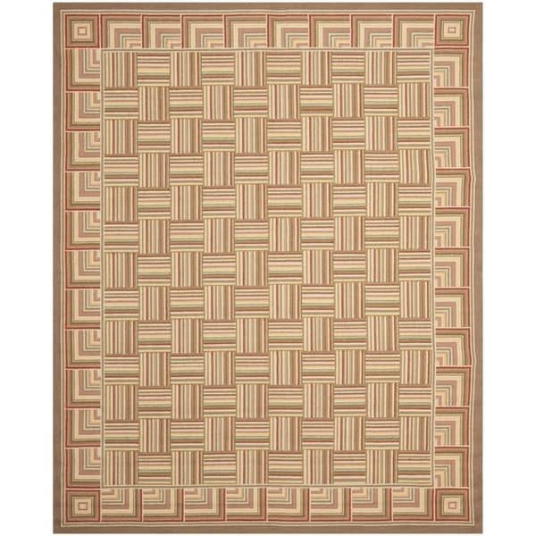 Safavieh Hand-hooked Chelsea Squares Wool Rug - 7'6 x 9'9