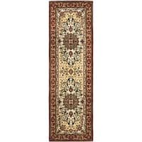 Safavieh Handmade Persian Legend Red/ Ivory Wool Rug - 2'6 x 10'