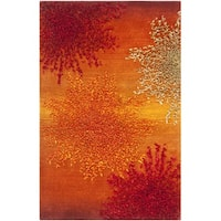 Safavieh Handmade Soho Burst Rust New Zealand Wool Rug (2' x 3') - 2' x 3'