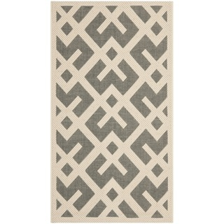 Safavieh Grey/ Bone Indoor Outdoor Rug (2' x 3'7)
