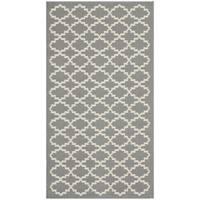 Safavieh Anthracite Grey/ Beige Indoor Outdoor Rug - 2' x 3'7