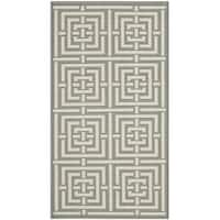 Safavieh Grey/ Cream Indoor Outdoor Rug - 2' x 3'7