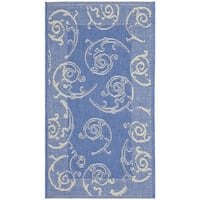 Safavieh Oasis Scrollwork Blue/ Natural Indoor/ Outdoor Rug - 2' x 3'7