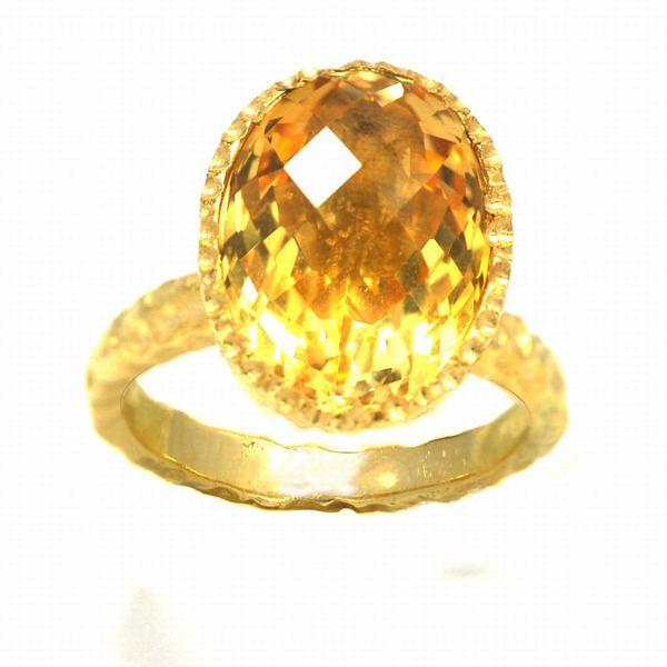 De Buman Gold over Silver Citrine Ring