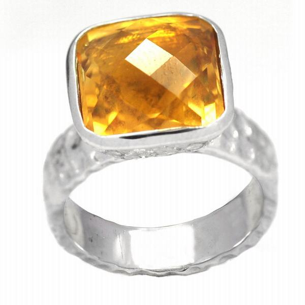 De Buman Sterling Silver Citrine Ring