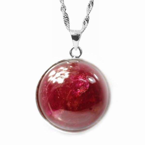 De Buman Sterling Silver Ruby Necklace