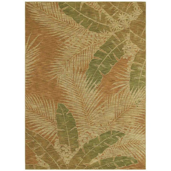 Tommy Bahama Carnival Palms Gold Rug (5'5 x 7'9)
