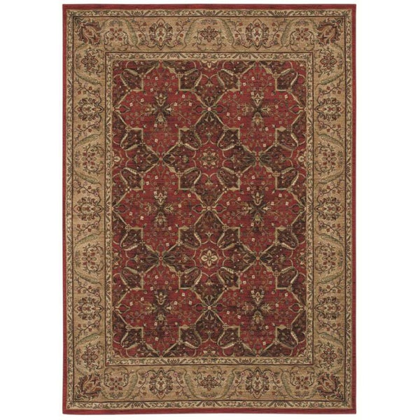 Tommy Bahama Home 'Havana Bay' Cranberry Rug (1'10 x 2'9)
