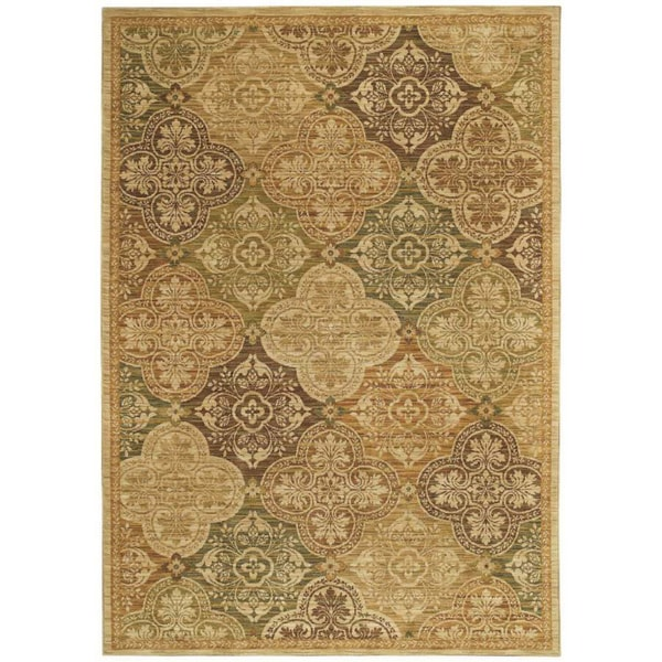 Tommy Bahama Home Rugs Light Multicolored Moroccan Mosaic Transitional Rug (9'6 x 12'10)