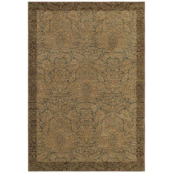 Tommy Bahama Home Rugs Ocean Seaspray Damask Transitional Rug (3'6 x 5')