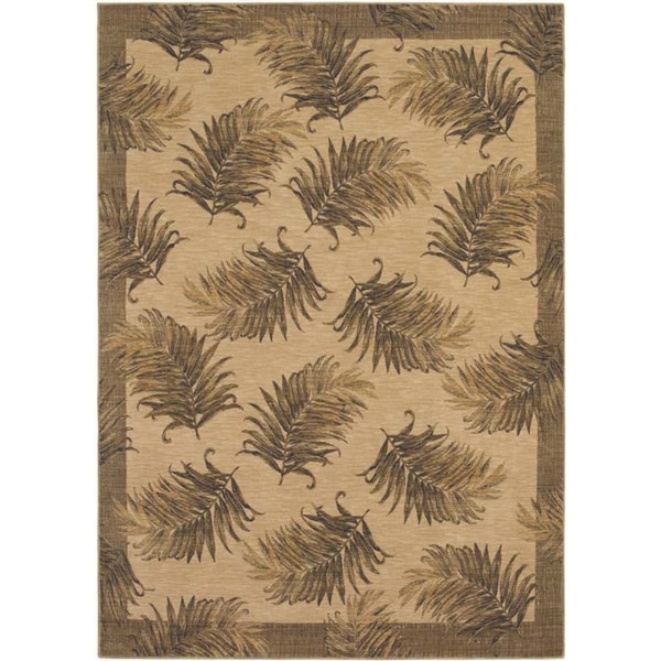 Tommy Bahama White Tahitian Breeze Area Rug (5'5 x 7'5)