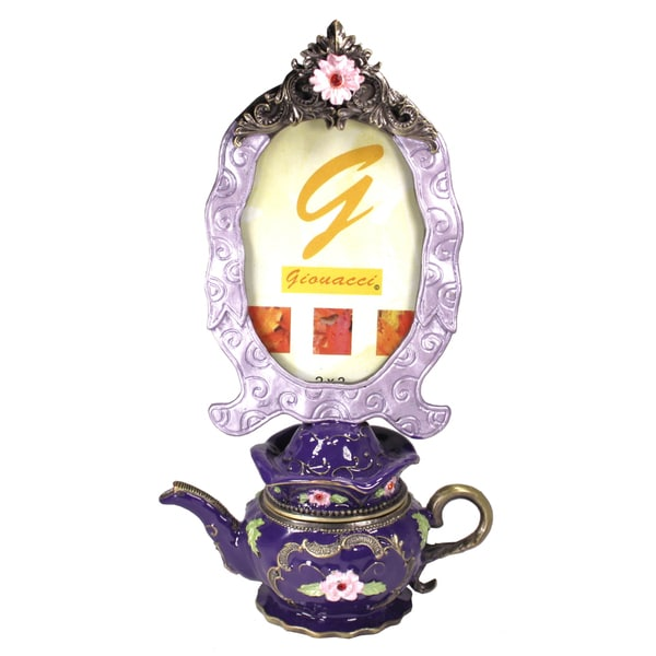 Cristiani Photo Frame Teapot Trinket Box