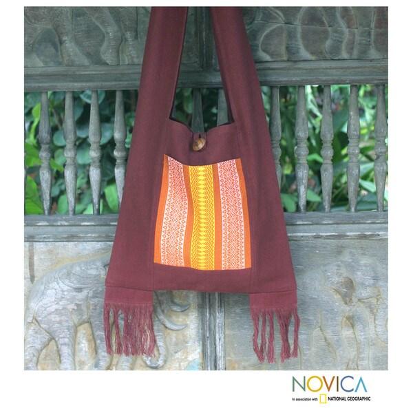 Cotton 'Chiang Mai Mosaic' Medium Sling Bag (Thailand)
