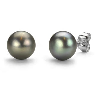 DaVonna Sterling Silver 8-9mm Freshwater Pearl Stud Earrings with Gift Box