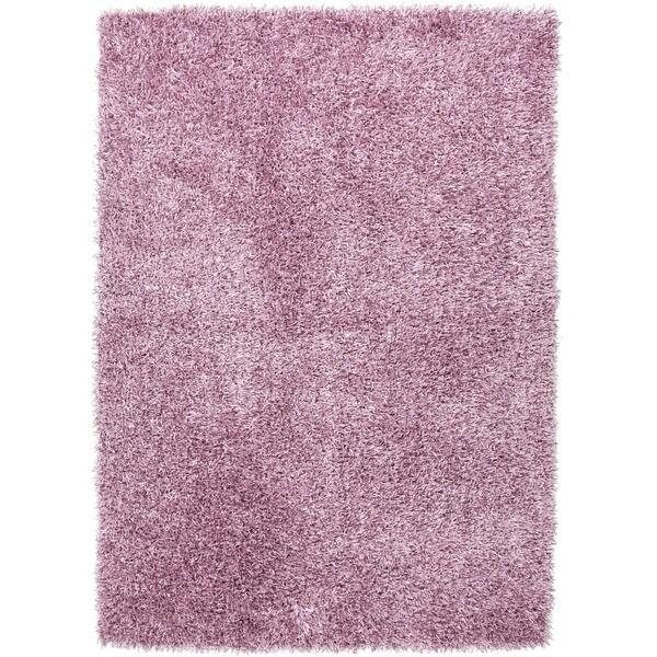 Pink/ Purple Solid Shag Rug (9' x 13')