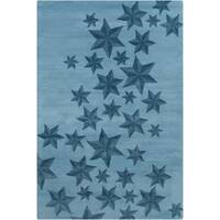 Allie Handmade Stars Pattern Wool Rug - 5' x 7'6