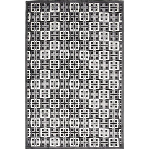 "Contemporary Modern Geometric Viscose/Chenille Rug (7'6"" x 9'6"")"