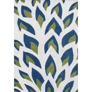 Alliyah Handmade Off White New Zealand Blend Wool Rug - 9' x 12'