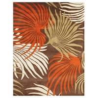 Alliyah Handmade Coca Brown New Zealand Blend Wool Rug (8' x 10')