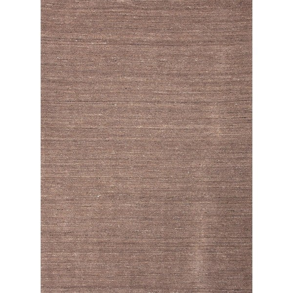 Hand-loomed Solid Beige Wool Runner (2'6 x 8')