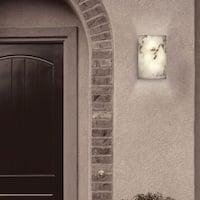 Justice Design Group 1-light Large Multi-directional Faux Alabaster Cylander Outdoor Wall Sconce