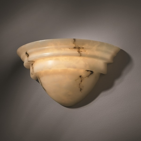 Justice Design Group 2-light Classic Faux Alabaster Wall Sconce
