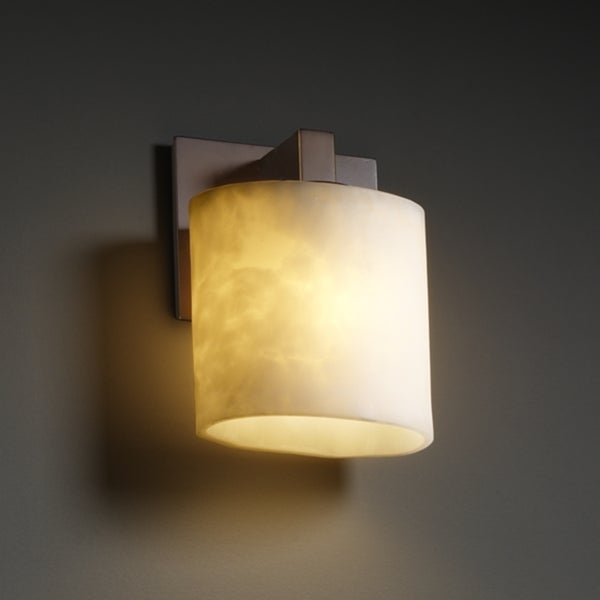 Justice Design Group 1-light Oval Dark Bronze with Clouds Resin Wall Sconce