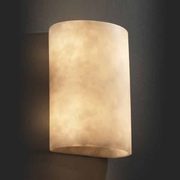 Justice Design Group 2-light Cylinder Cloud Resin Wall Sconce