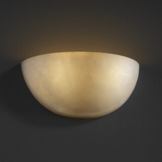 Justice Design Group 2-light Quarter Sphere Resin Clouds Wall Sconce