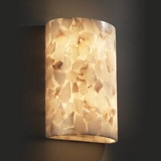 Justice Design Group 2-light Cylinder Natural Alabaster Rocks Wall Sconce
