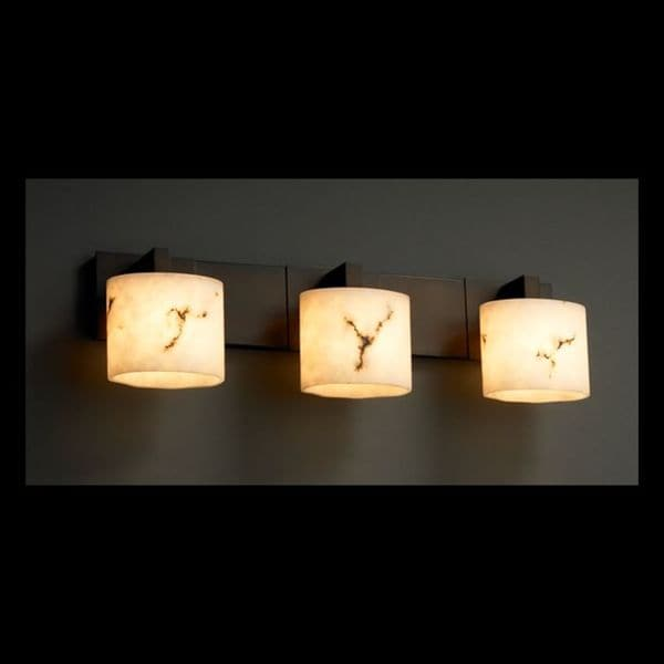 Design lumenaria modular 3 light bronze bath bar justice