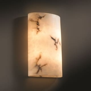 Justice Design Group 2-light Extra Large Cylinder Faux Alabaster Wall Sconce