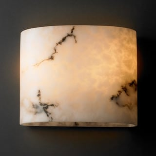 Justice Design Group 2-light Oval Faux Alabaster Wall Sconce