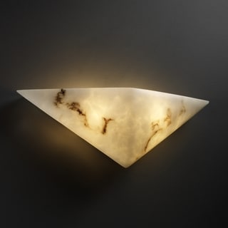 Justice Design Group 2-light Rectangular Faux Alabaster ADA Approved Wall Sconce