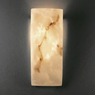 Justice Design Group 1-light Rectangular Faux Alabaster ADA Approved Wall Sconce