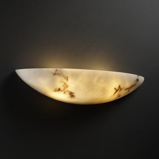 Justice Design Group 2-light Small Rounded Faux Alabaster Wall Sconce
