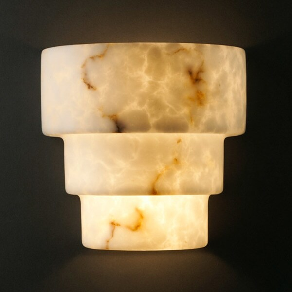 Justice Design Group 2-light Terrace Faux Alabaster Wall Sconce