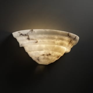 Justice Design Group 2-light Supreme Faux Alabaster Wall Sconce