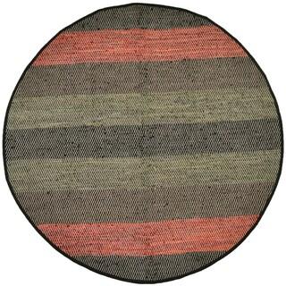 Hand Woven Matador Striped Leather (8x8' round)